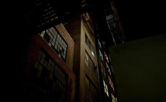 Dark warehouse alley