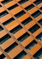 Copper facade detail on modern building, New York