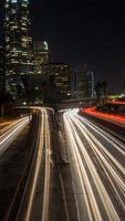 nachtleven, stadslicht, in de binnenstad van Californië