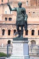 Statue CAESARI.NERVAE.F.TRAIANO, Rome, Italy photo