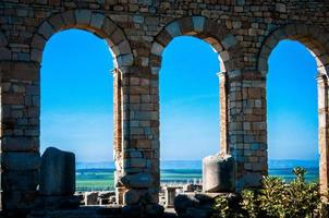 From the arcs of Volubilis Basilica photo