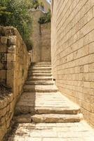 The narrow streets in the old Jaffa