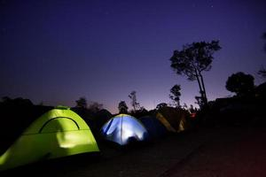 Tent camping photo