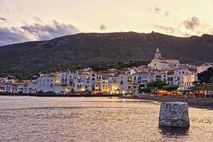 General view of Cadaques in summer evening