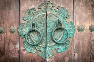 Traditional Korean door knockers.