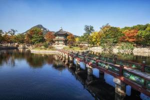 Hyangwonjeong autumn reflections photo