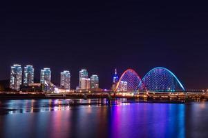 ponte expro à noite em daejeon