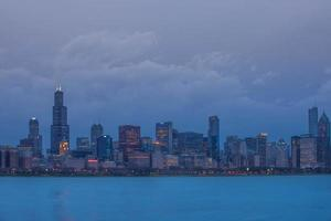 Chicago al anochecer
