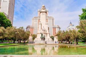 The Cervantes monument, Madrid ,Spain