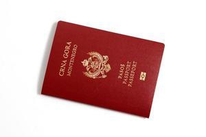 pasaporte - montenegro