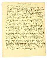 Carta personal manuscrita temprana de 1819.