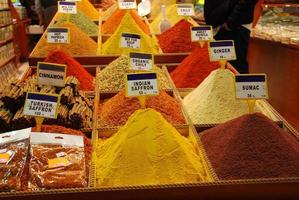 Mounds of spices photo