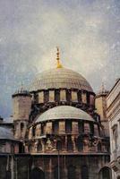 eminonu nouvelle mosquée (grunge), istanbul, turquie.