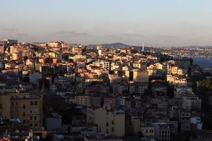 View of Istanbul at sunset
