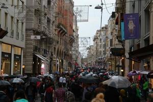 Beyoglu in rainy weather photo