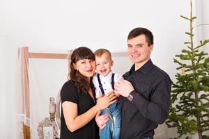 retrato familiar de navidad