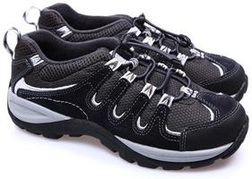 Pair of child's hiking tennis shoes. photo