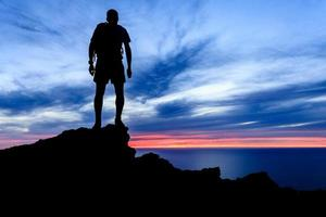 Motivation and freedom sunset silhouette photo