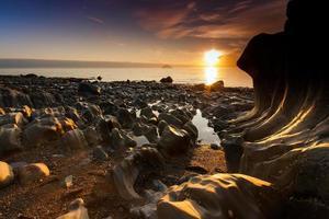puesta de sol escocia foto
