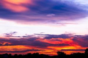 colorful sunset photo