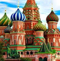Domes of the famous Head St. Basil's Cathedral