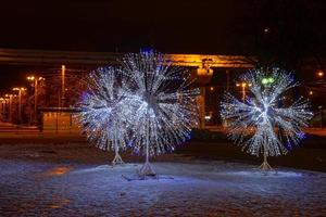 LED light decorations in Moscow photo