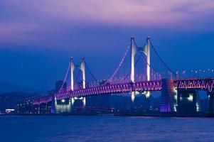 puente gwangan y haeundae en busan, foto