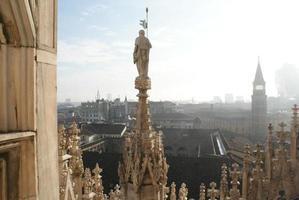 Milan's Duomo Top View photo