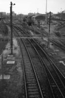 Tracks of  railroad