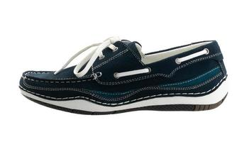 casual blue leather men's shoe