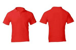 Men's Red Polo Shirt Template photo
