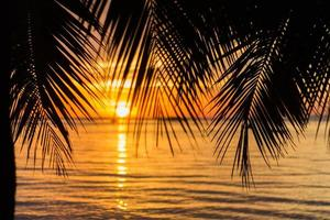 Sunset beach background photo
