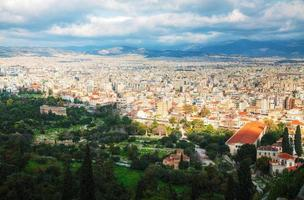 Scenic view of Athens, Greece photo
