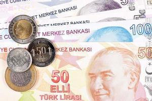 dinero turco lira turca foto