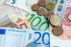 Euro currency paper money photo