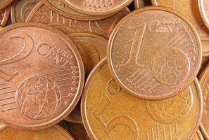 vista superior euro dinero foto