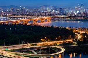 hermoso puente de seúl foto