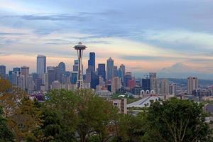 Seattle Skyline at Dusk photo