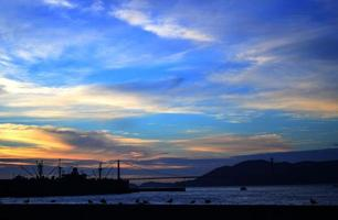 puesta de sol de san francisco foto