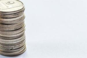 Coins macro photo