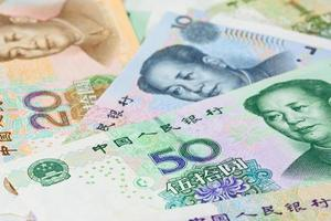 chinese Yuan bank notes (renminbi), for money concepts photo