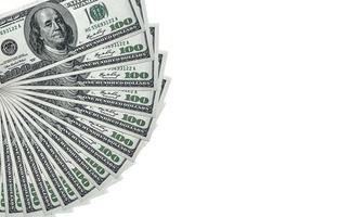 pila de dinero billetes de $ 100 dólares foto