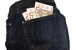 Jeans Geld in der Tasche