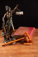 judge gavel with money closeup photo