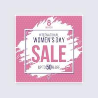 International Women's Day Sale Discount Brushed Halftone Poster
