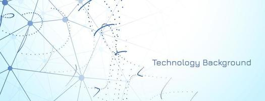 Modern technology banner on light blue background vector