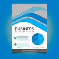 modello di volantino moderno business blu