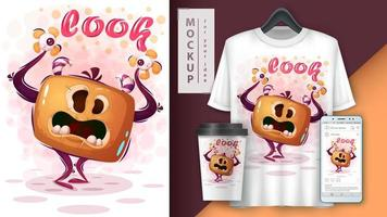 Scary Cute Pumpkin Monster Look Poster