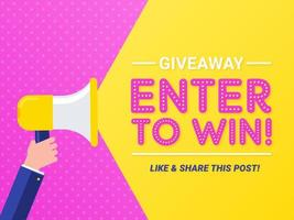 Enter To Win Pop Vector Banner