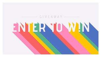 Enter To Win Retro Typography Vector